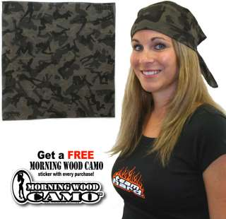 Wholesale Lot 12 Stealth Morning Wood Camo Bandanas