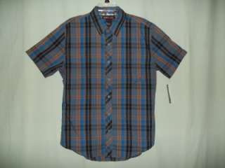 new tony hawk mens short sleeve casual dress shirt size L