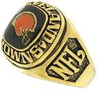 Balfour Ring Football Nfl Team Cleveland Browns Sz 8.5