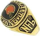 Balfour Ring Football Nfl Team Cleveland Browns Sz 8.5