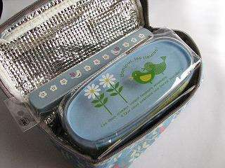 Japanese BENTO Bird and Flower Lunch box set Blue 7pcs
