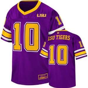 LSU Tigers Youth Purple Stadium Football Jersey: Sports