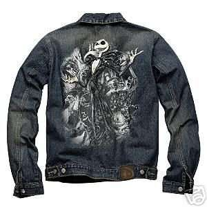 Disney Jack Skellington Denim Jacket Mens Large NEW Nightmare Before