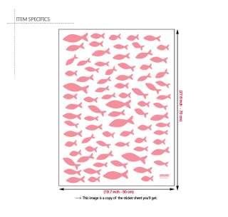 PINK FISH ★ Wall & Bath Decor Vinyl Art Decal Stickers