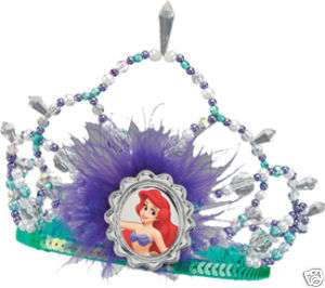 New ARIEL TIARA Crown Little Mermaid Girl Child Disney