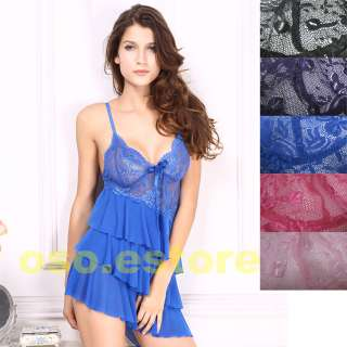 Sexy Three Layer skirt Loveable Flower Babydoll (S8191)