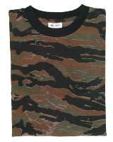 Sky Blue Camouflage Military T Shirts Army Camo Tops
