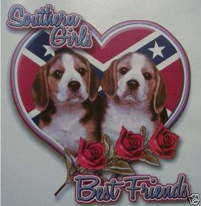 DIXIE SOUTHERN GIRL BEST FRIENDS BEAGLES REBEL SHIRT