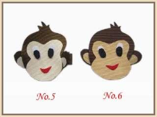 18 Girl Hair Clip bow Bear Monkey Christmas tree Lovers Chips Fox