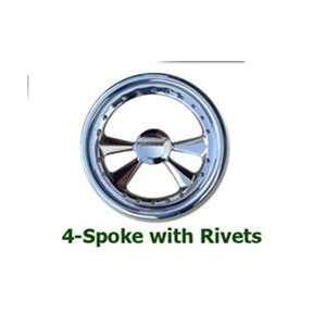 4 Spoke Full Wrap Billet Steering Wheel Automotive