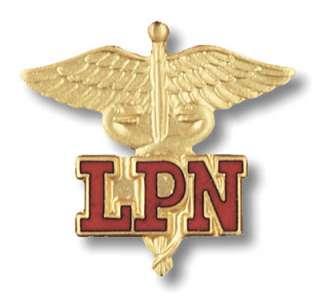 New LPN Nurse Nursing Medical Insignia Emblem Lapel Pin