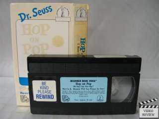 Hop on Pop VHS Dr. Seuss, Beginner Book Video