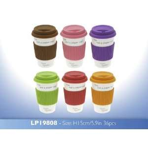 Paper Cup Eco Travel Mug with Silicon Lid & band: Home & Kitchen