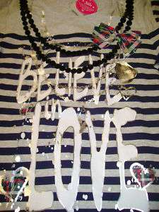 NWT Justice tunic top Believe in love necklace shirt 16
