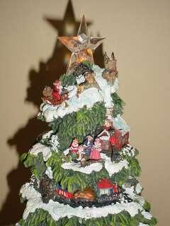 LED Lighted Musical Christmas Tree Village   SEE VIDEO
