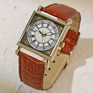 BIG BEN LONDON WATCH WRISTWATCH LEATHER STAINLESS STEEL
