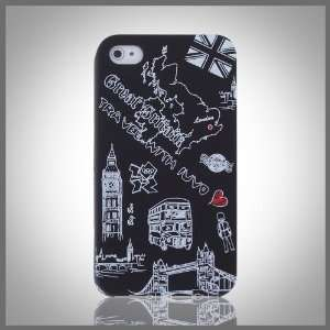 London Big Ben Black hard case cover for Apple iPhone 4 4G 4S Cell