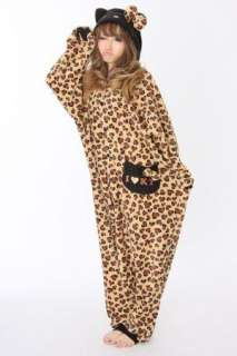 Hello Kitty Kigurumi Costume Pajamas Japan Panther Brown In time for