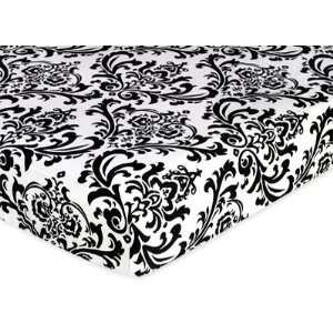 Fitted Crib Sheet for Baby/Toddler Bedding Sets   Damask Print: Baby