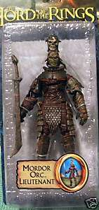 MORDOR ORC LIEUTENANT LORD RINGS ROTK FOTR NEW ON CARD