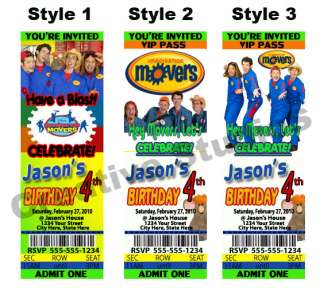 Imagination Movers Birthday Party Invitations Favors