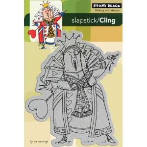 Penny Black Cling Rubber Stamp, Queen Of Hearts