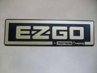 EZ GO Golf Cart NAME PLATE FRONT EMBLEM in GOLD #BP0019