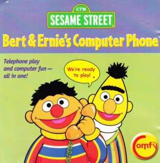 Sesame Street Bert & Ernies Computer Phone CD ROM PC