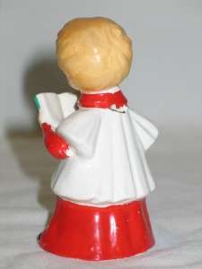 Vintage Christmas Ucagco Ceramic Choir Boy Bell 1950s