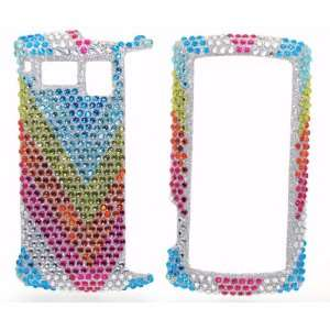 Silver with Blue Yellow Orange Pink Rainbow Wave Sparkling