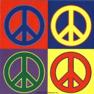 Colorful Peace Signs (Andy Warhol Style)   Sticker / Decal Automotive