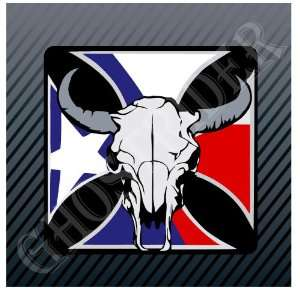 Bull Skull PBR Bull Riders Texas Cross US Flag Car Trucks