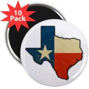 2.25 Magnet (10 Pack) Texas Flag Texas Shaped: Everything Else