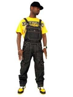Premium Bib Overalls   Black   Mens Hip Hop Denim Bib Jeans