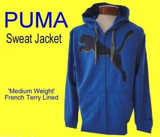 Mens PUMA Mid Weight BIG CAT LOGO Zip HOODY Sweatshirt SWEAT JACKET L