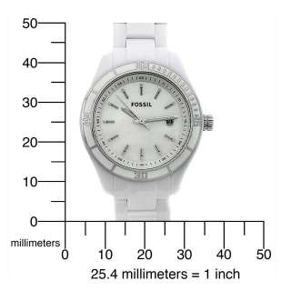 Fossil Womens ES2544 Stella Mini White Mother Of Pearl Dial Watch