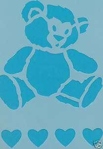 Airbrush T Shirt Stencil   Badger   Teddy Bear