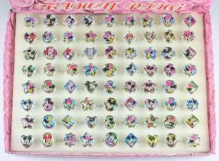 Plastic Mickey Minnie Mouse Rings Party Birthday Favors Gifts