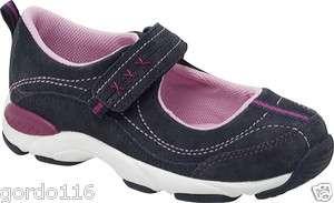 Girls Stride Rite Shoes Sneakers Joy Navy Pink Blue Suede 8 9 10 11 13