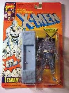 MARVEL X MEN ICEMAN 1993 TOY BIZ SUPER ICE SLIDE
