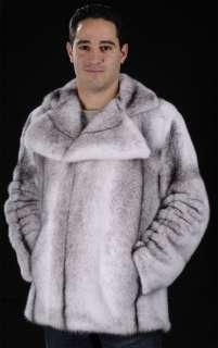 Mans mens black cross SAGA ROYAL mink fur jacket coat   MAILON FURS