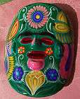 Mexican Talavera Sun Face Mask Wall Plaque Folk Art