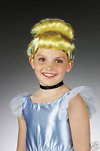 New CINDERELLA Blonde Wig Disney Princess Girls Child Size Hair