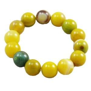 Agate Prayer Beads Wrist Mala  Green Everything Else