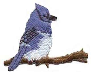 Blue Jay Bluebird Embroidered Iron On Patch 1110196