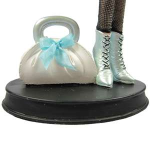 Blue Top Doll Mannequin Jewelry Stand Organizer Tree Denim mini skirt
