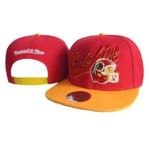 NFL Washington Red Skins Mitchell Ness Red Hats