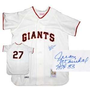 Juan Marichal Memorabilia Signed 1962 San Francisco Giants