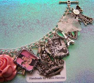 Audrey Hepburn Themed Charm Bracelet Handmade By Tattoo.Heroine