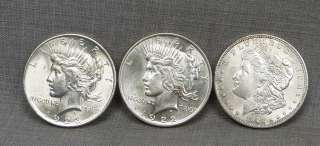 Different Morgan & Peace Silver Dollars Winner Takes All